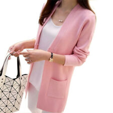 Women Spring/ Autumn Sweater Long Cardigan Loose Knit Sweater Outwear Coat
