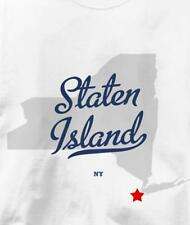 Staten Island, New York NY MAP Souvenir T Shirt All Sizes & Colors