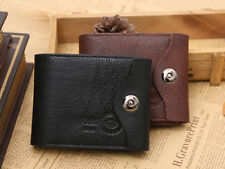 New Bifold Wallet Men's Genuine Leather Credit/ID Card Holder Coin Pocket Purse