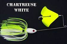 Buzzbait Style C CHARTREUSE WHITE bass fishing buzz baits. KVD trailer hook
