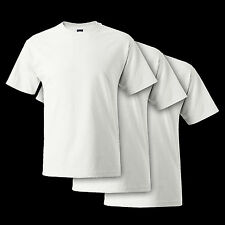 *3 PACK* WHITE Hanes Beefy-T 5180 Cotton Tee *S-6XL* Blank Tee Shirt 100%