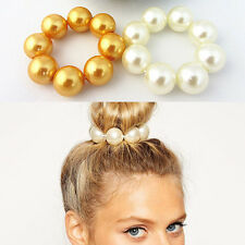 New Women Hair Pearl Ponytail Holder Ring Tie Elastic Hair Band Rope Accessories