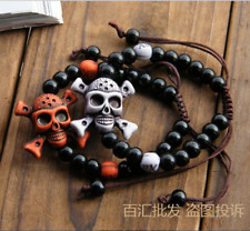 Halloween gifts The pirate skull beads bracelet gifts Christmas decorations