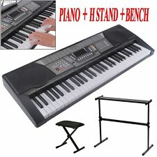 61 Key Electronic Piano Beginner Keyboard Music Key Board Piano Organ X Stand AL