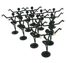 12 Black Metal Earring Dancer Jewelry Showcase Display Stands