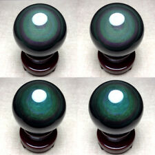 58mm NATURAL Unique rainbow OBSIDIAN POLISHED SPHERE BALL Distinctive+STAND