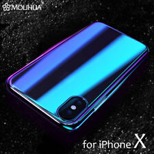 Gradual Colorful Case Gradient Change Clear Phone Cover For Apple iPhone X 10