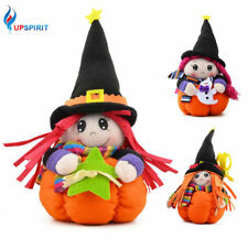 Halloween Witch Doll with Pumpkin Stand for Halloween Bar Home Party Decorations