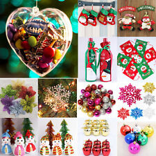 Christmas Xmas Tree Ornaments Snowflake Ball Flower Festival Party Hanging Decor