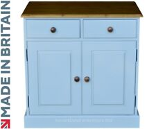 Solid Pine Sideboard, Painted & Waxed Dresser Base Cupboard Unit with Drawers