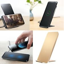Qi Wireless Charger Stand Charging Pad Dock For iPhone X Samsung Galaxy Note 8