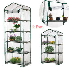 No Frame 4 Tier Garden Greenhouse Green Hot Plant House Shed Storage PVC Cover