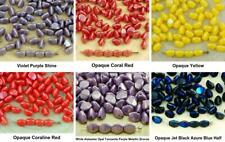 60pcs Luster Pinch Bicone Faceted Spacer Czech Glass Beads 5mm