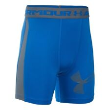 Under Armour Boys Shorts Heatgear Armour Up Fitted–mid Shorts Ultra Blue