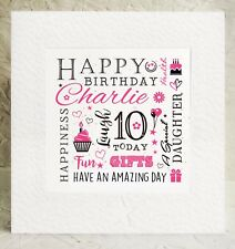 Personalised Birthday Card Daughter Niece God daughter Grand daughter neice