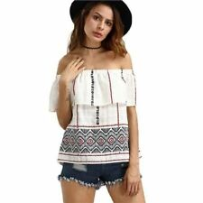 Women New Fashion Cotton Material Off The Shoulder Summer Style Blouse