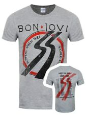 Bon Jovi Slippery When Wet Tour Men's Grey T-shirt