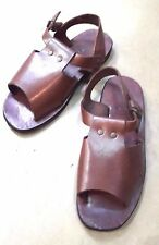 VTG 60'S Handmade Retro Sandals Ankle Strap Hippie Roman Cute Leather Footwear