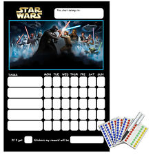 Children's Behaviour Reward Chart - STAR WARS - Includes Stickers & Pen