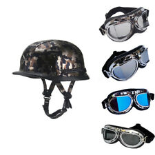 DOT Motorcycle Rider Half Helmet+Goggles Chopper Cruiser Biker Guard Durable BCL