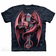 Stokes Gothic Guardian Red Dragon T Shirt The Mountain Medieval Cross Tee S-5XL