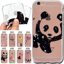Gel Glitter Cover Rubber Silicone TPU Soft Case Back Skin For Apple iPhone 6/6S