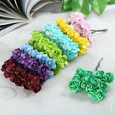 144pc Artificial Rose Paper Craft Fake Flowers Bouquets Wedding Party Decoration