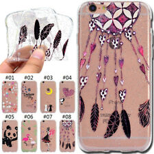 Glitter Silicone TPU Soft Case Skin Rubber Cover Back For Apple iPhone 6S Plus