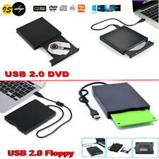 "USB External DVD CD / 1.44MB Floppy Disk Drive FDD3.5"" For Windows Mac Laptop PC"