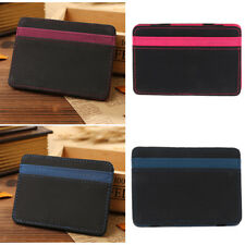 Mens Luxury Magic Bag PU Leather Wallet Credit Card Cash Holder Purse