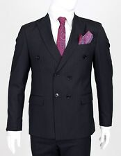 Jack Martin - Black Pinstripe Double Breasted Suit
