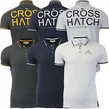 Mens Polo T Shirt Crosshatch 'Momo' Collared Short Sleeve Casual Top S-XXL