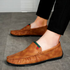 Mens Casual Leather Loafer  Comfy 2017 Leisure Moccasins Driving Shoes Non-Slip