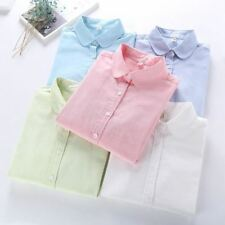 New Casual BRAND Long Sleeved Cotton Oxford White Shirt Woman Office Shirts Exce