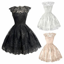 New Fashion Women Wedding Bridal Gown Lace Evening Party Cocktail Short Dress
