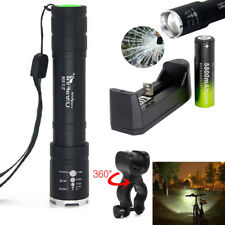 20000LM Zoomable 3Modes Tactical T6 LED 18650 Flashlight Torch+Charger+BTY+Clip