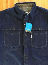 Columbia Mens Omni-Heat Modern Logger Wool Blend Flannel Shirt Jacket - NWT
