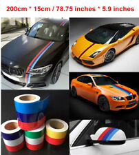 3 Color Stripe National Flag Sticker Decal Body Front Hood Germany France Italy