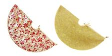 Christmas Decorations Christmas Tree Skirt Gold Red Glitter 90cm Diameter