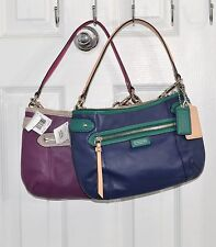 Coach Handbag Daisy Spectator Small Leather Bag Cross-body F23951 Navy Or Purple
