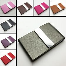 New PU Leather Name Business ID Credit Card Hot Pocket Case Holder Waterproof