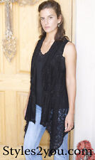 NWT Pretty Angel Clothing Grace In Lace Cardigan In Black  66792