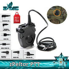 Z-TAC Tactical zPELTOR PTT Headset Adapter For 2 Pin Airsoft Military Radio