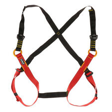 Kids Rock Climbing Safety Seat Belts Rappelling Full Body Guide Harness S/L