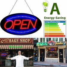 """Bright Animated LED Open Store Shop Business Sign 19x10"""" neon Display Lights OR"""