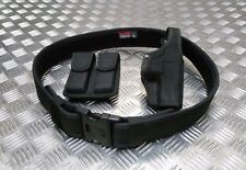 Genuine Bianchi MoD Military / Police Black Duty Belt Holster & Ammo Pouch B3PC1