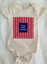 American Apparel Infant Baby Bodysuit You Are Loved Birdaria One-Piece Hearts
