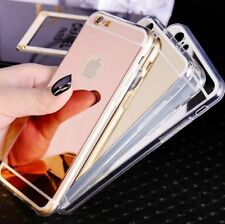 Luxury TPU Bumper Ultra-thin Mirror Case Cover For iPhone X/8/7/6s/5s Plus S005