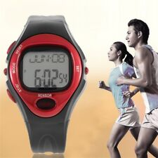 Pulse Heart Rate Monitor Calories Counter Fitness Watch Time Stop Watch Alarm OZ
