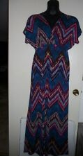 Pretty Young Thing Sexy Aztec Cleavage Long Maxi Dress Women's 2X NWOT